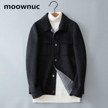 NEW Brand mens Double-faced Woolen Coats men Winter Men's cashmere short jackets 2018 male Wool & Blends outwear Plus Size M-3XL
