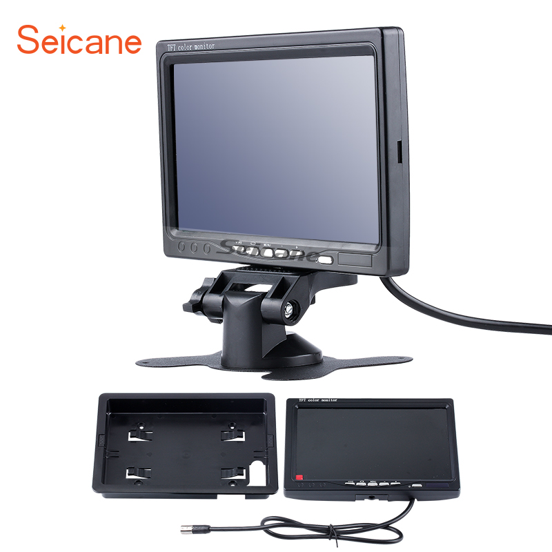 Seicane Universal 7 inch Car Auto Parking Monitor HD 1024*600 Backup Rearview Camera Dig ...