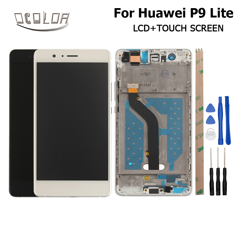 1920X1080 FHD For Huawei P9 Lite  LCD Display + Touch Screen With Frame And Front Frame 5.2inch Screen Digitizer Assembly Parts