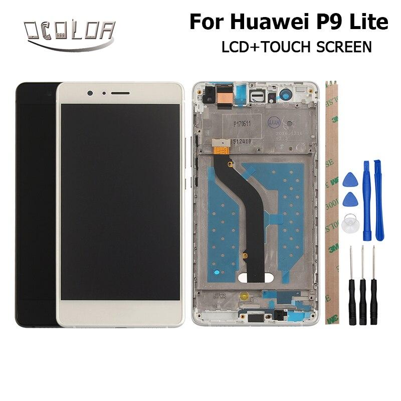 imágenes para 1920X1080 FHD Para Huawei P9 Lite Pantalla LCD + Pantalla Táctil Con Digitalizador Asamblea Frame 5.2 pulgadas de Pantalla piezas + Herramientas + Adhesivo