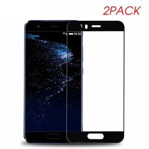 Image 2 - 2 個保護ガラス Huawei 社 p10 lite プラス強化 Glas 1080p 10 p10lite Huavei Hauwei Huawie スクリーンプロテクターオリジナルフィルム