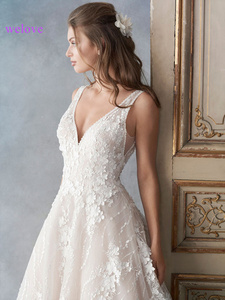 Image 3 - מותאם אישית שמלת כלה 2020 חדש קוריאני סגנון עבודת יד שמלת כלה כלה חתונה שמלת נסיכה לבנה כלה חתונת שמלות