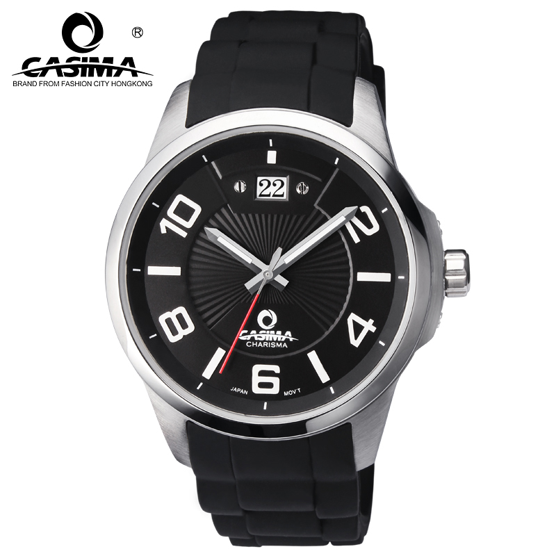 Watches Men Luxury Brand CASIMA reloj hombre Casual Silicon Strap Men Quartz Watch montre homme Waterproof 100M Men Watch