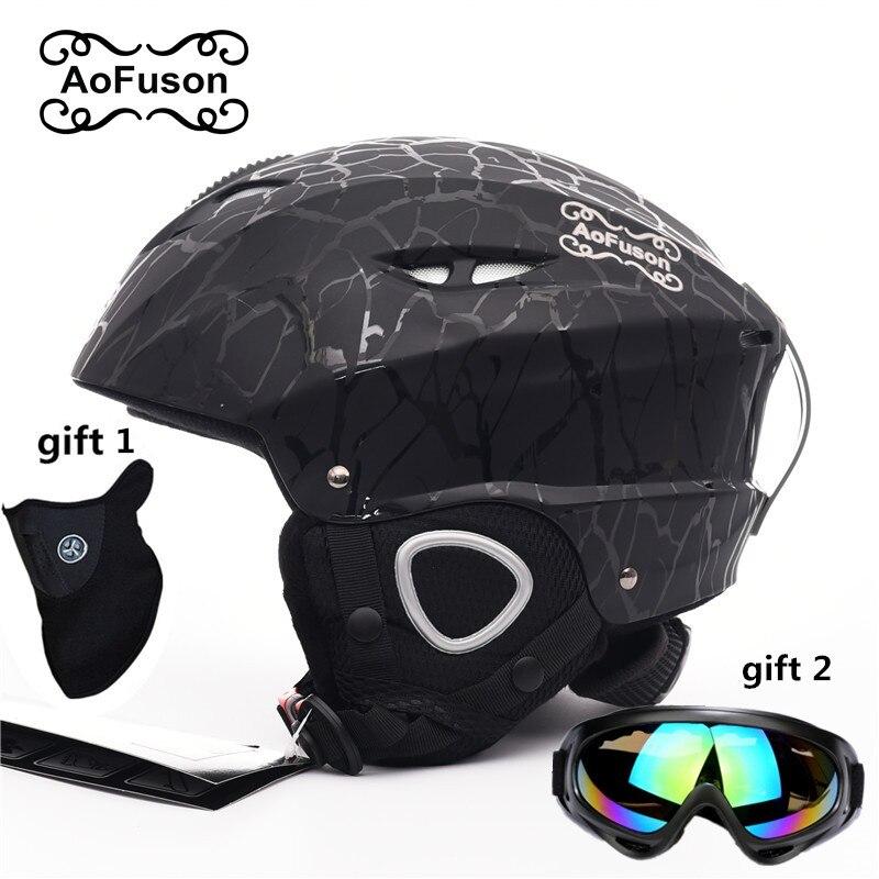Ensemble d'équipement de Ski double couche anti-buée grande vision masque de snowboard masque de Ski femmes et hommes motoneige hiver casque de sport chaud