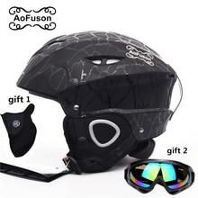 Ski equipment set double layers anti-fog big vision snowboard goggle mask women&men skiing snowmobile winter warm sports helmet