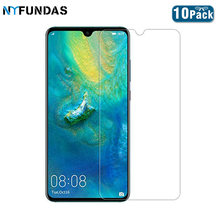 NYFundas 10pcs for tempered glass for huawei mate 20 10 lite X 9H screen protector film for huawei p20 lite p smart verre trempe(China)