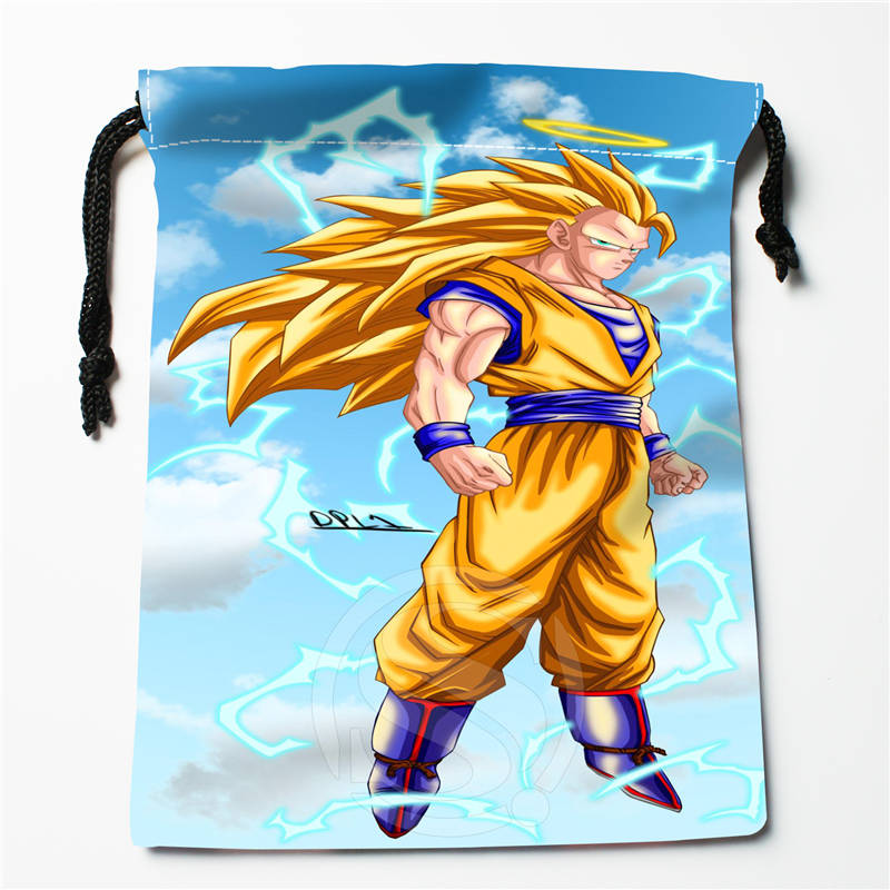 A&w28 New Dragon Ball Z ANIME Custom Logo Printed  Receive Bag  Bag Compression Type Drawstring Bags Size 18X22cm 712q#w28