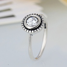 HOMOD 2019 New Fashion Silver Plated Collection Brilliant Legacy Stackable Brand Ring Clear CZ Jewelry