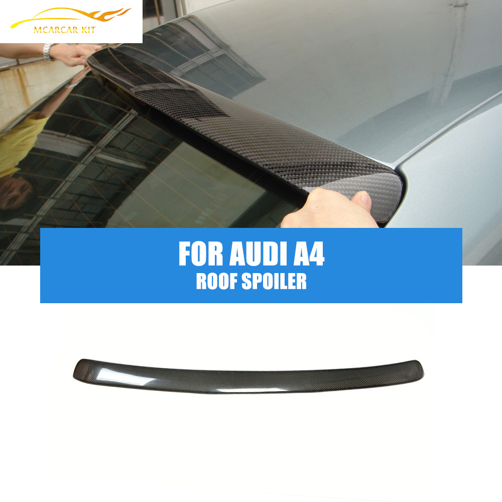 Carbon Fiber A Style Rear Roof Spoiler Wing ,Auto Car Wing Spoiler  Fit For Audi A4 B8 Saloon 2009-12 Window Wing Car styling