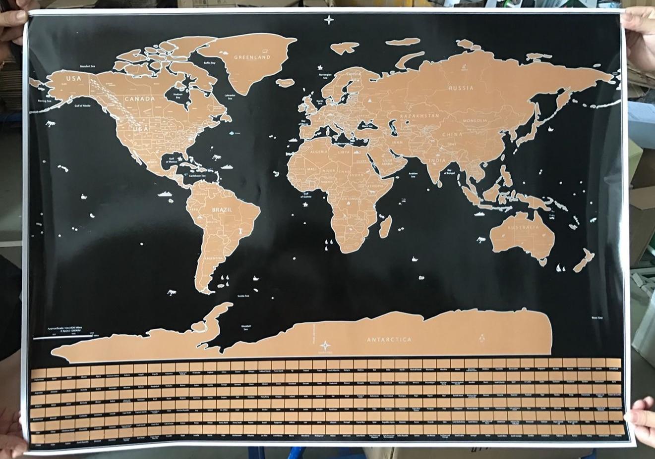 Travel edition scratchmap parent map deluxe scratch edition world map travel world poster map oceans diy gumiabroncs Images