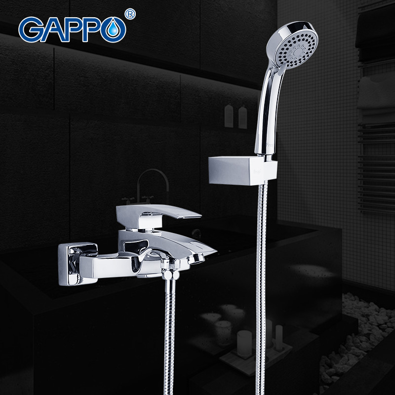 GAPPO 1set Bathroom sink faucet torneira Brass body bathtub sink Tap mixer Cold Hot water restroom faucet in hand shower GA3007 gappo bathroom faucet accessories faucet brass body bathtub sink mixer cold hot water restroom faucet in hand shower ga3007