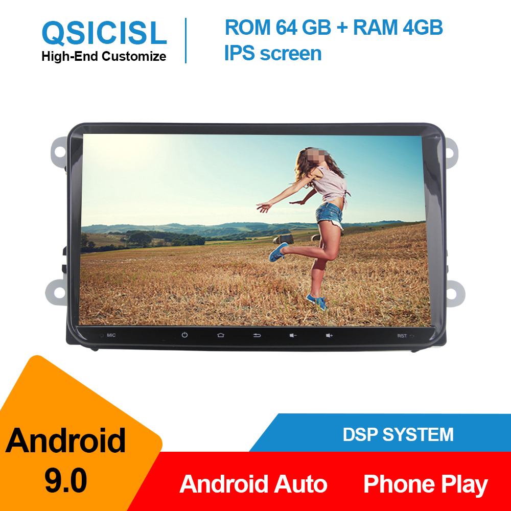 Android 9.0 universal car radio multimedia player for Volkswagen Polo Golf Passat Tiguan 2 din IPS 9 car gps navigation stereo