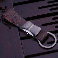 High Quality Brand Design Luxury Leather Keychain For Man Women Car Key Chain Key Ring Birthday Gift Key Holder