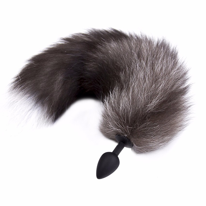 Zerosky Silicone Butt Plug Black Fox Tail Anal Plug Sex Toys For Women Adult Games Sex Products 1
