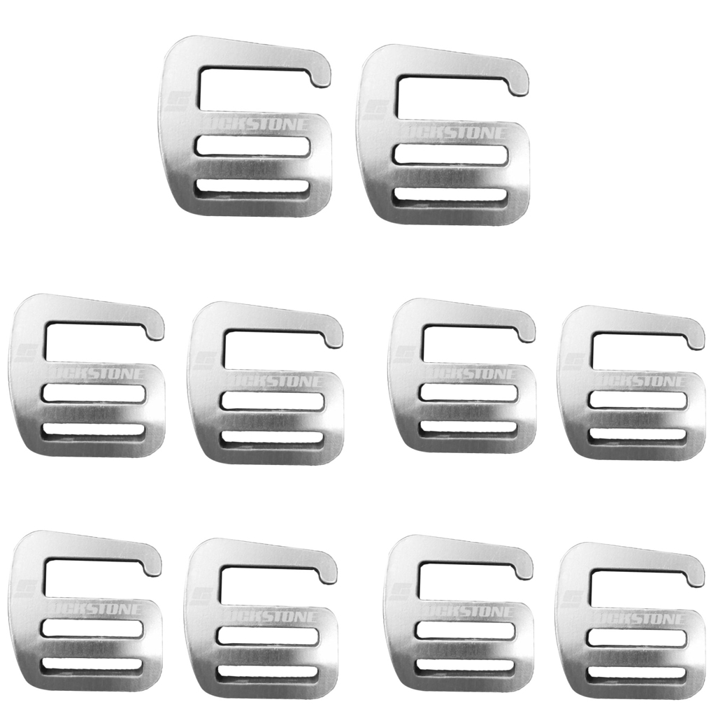 10x Metal G Hook Webbing Buckle, Lightweight And Strong 25mm Silver Outdoor Backpack Accessories Quick Release Buckle