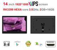 14 Inch HEXA Core Android Touch KIOSK POS Screen All In One Pc RK3399 3 5GHz