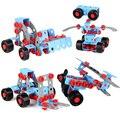 280 шт. DIY дети головоломки строительные блоки обучающий робот образование-монтажные игрушки 3d-модель здания комплекты моделирование гайки винты и дрель