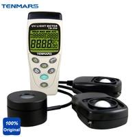 3 in1 Многофункциональный Мониторы Защита окружающей среды UVA intensitometer Lux метр солнечной Мощность метр tm208