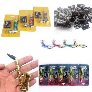 Creative Various Smok Small Metal Pipe Portable Smoking Pipe Tobacco Pipes Herb Smoke Narguile Grinder Cigarette Holder 1