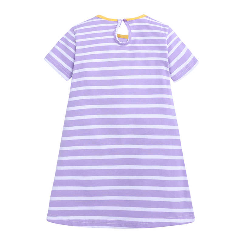 Qz-652 Новое Брендовое платье для девочек, летняя стильная праздничная одежда для детей, платья принцессы для маленьких девочек с вышивкой животных, детская одежда