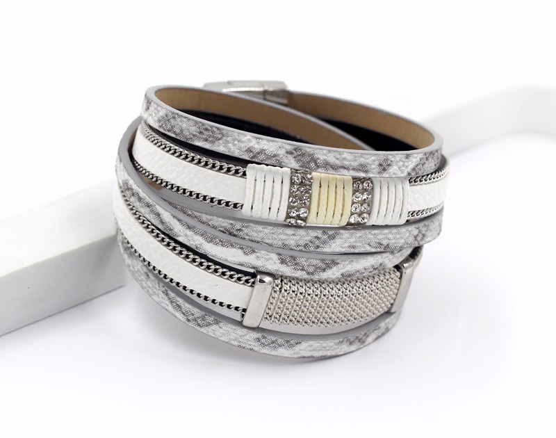 VONNOR Bracelet for Women Men Multilayer Leather Bangle Bracelets Female Jewelry Magnetic Wrap Bracelet Dropshipping 4