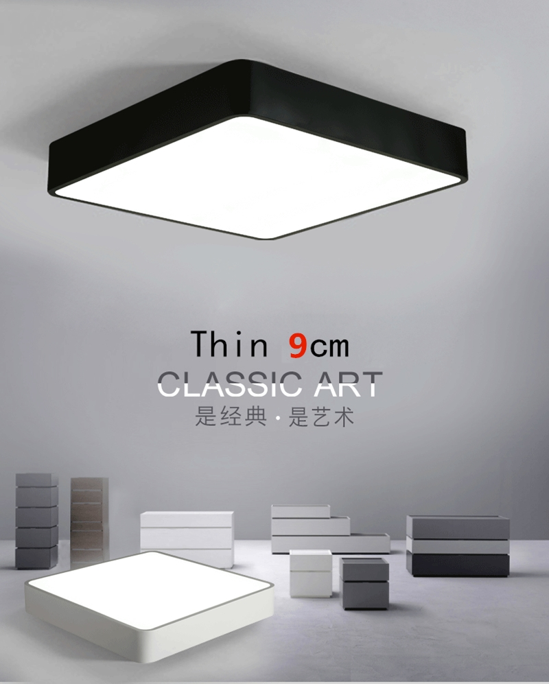 Modern Led Ceiling Lamp Square Super Thin 8cm Ceiling Light For Bedroom Kitchen Lamp Indoor AC220V Ceiling lights ZXD0007 ...