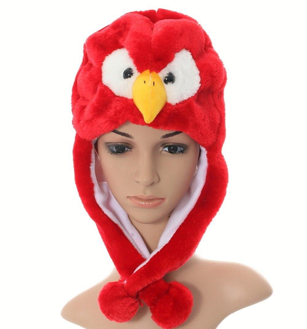 Douchow женские подростковые дети девочки мальчик мультфильм Eapflap животных шапки милый красный Орел плюшевые зимние теплые шапочки Кепка Косплей Подарки