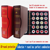 12 High Quality Coin Holder Commemorative Coins Protection Box Collections Book Coins Round Boxes Coin Album Collection Storage