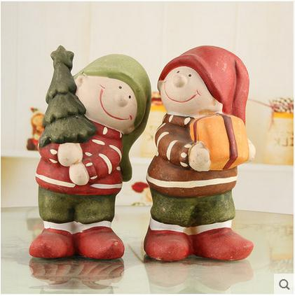 ceramic dolls for girls home decor crafts room decoration ceramic handicraft porcelain figurines christmas articles decorations