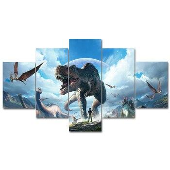 Video juego ark era póster arte impresiones lienzo pared arte pinturas al óleo cuadros carteles para dormitorio sala de estar decoración para el hogar marco