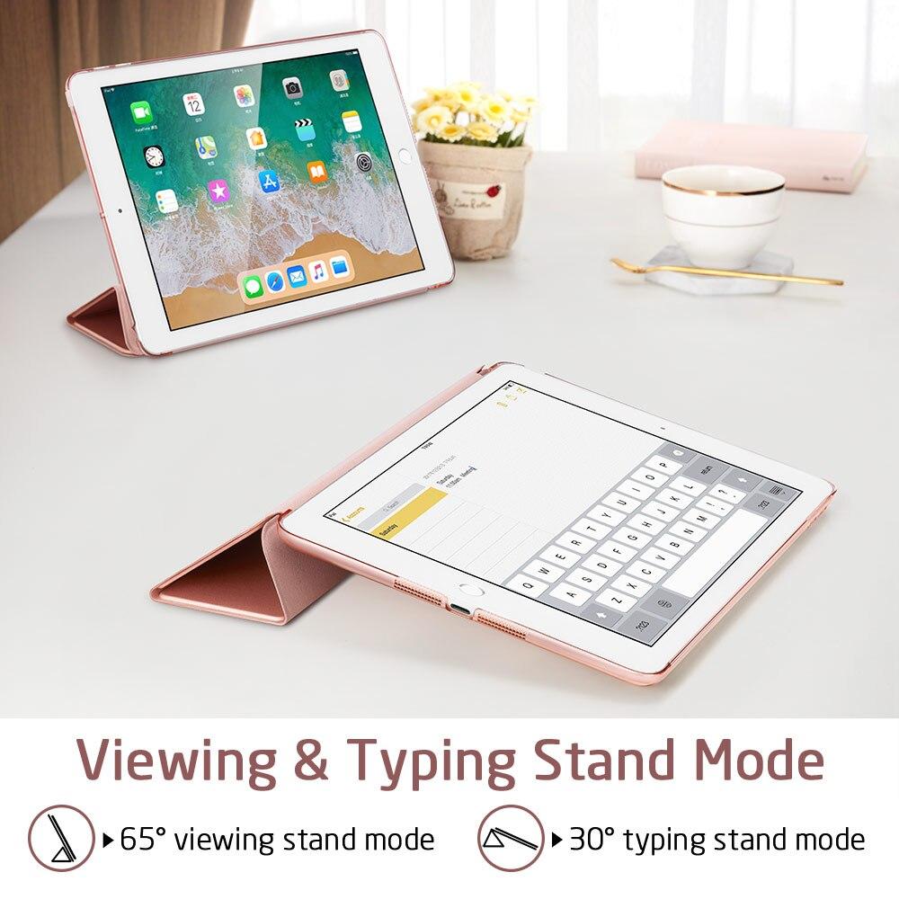 Case For Ipad Mini 1 2 3 PU Leather Translucent Back Hybrid Soft Corner Slim Smart Cover Color Case For Ipad Mini 1 2 3