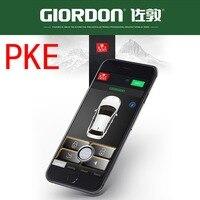 Controle do telefone móvel com entrada keyless pke & janela de energia fechar o bloqueio para o veículo e deixar o bloqueio mp068