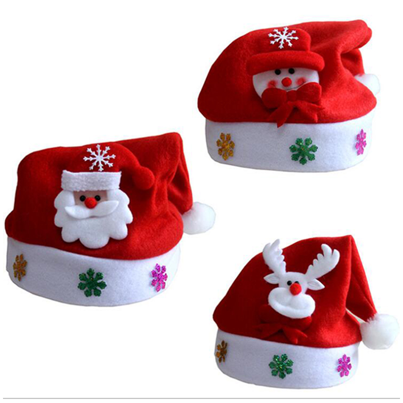 Christmas Hats Kids And Adult LEDLight UpLuminous Flash Santa Hats Christmas Party Decoration Christmas Decorations For Home (7)