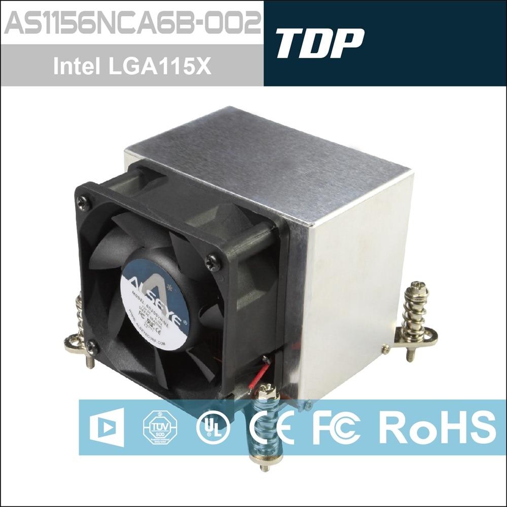 ALSEYE AS1156NCA6B-002 Radiator 130W 2U LGA1156 4pin 6000 RPM Aluminum Heatsink Copper Base server cooler cooling for computer 2u lga2011 radiator with 4 copper pipes aluminum alloy heatsink 2u server cooler