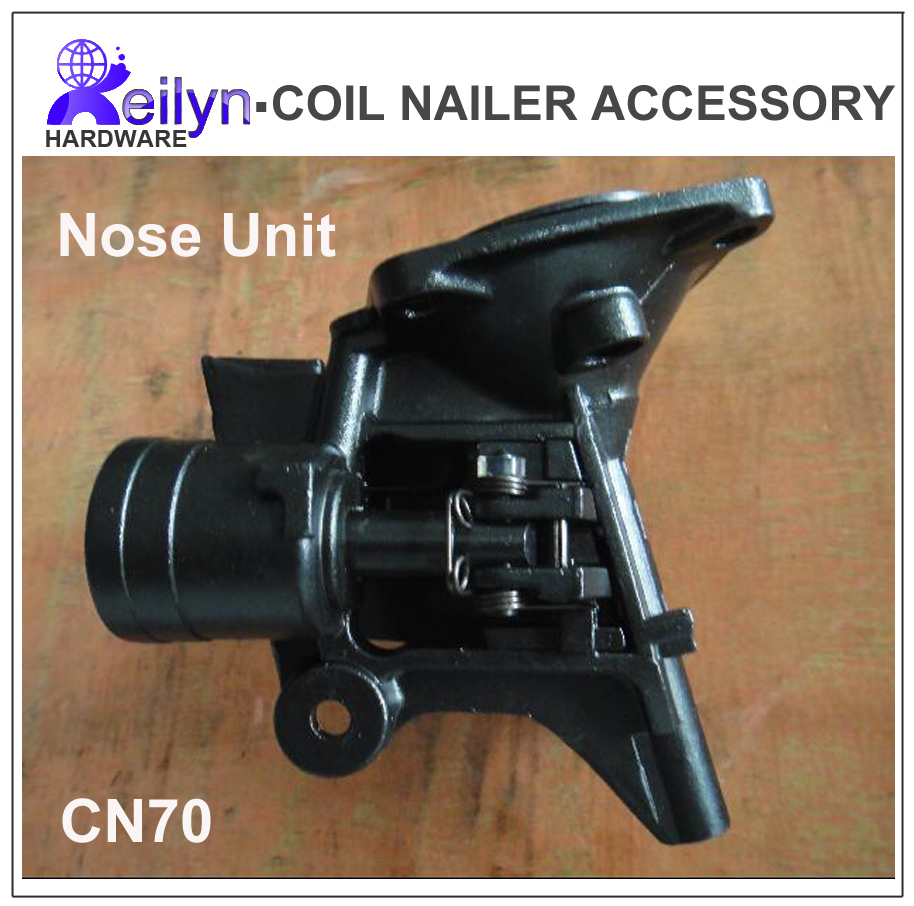 CN70 Nailer Parts nose unit nuzzle set for Nail Gun CN70  accessory for Coil Nailer  Max, Bostitch, Senco, Meite free shipping reilyn piston cn55p accessory for nail gun parts for coil nailer cn55 for max bostitch senco stanley