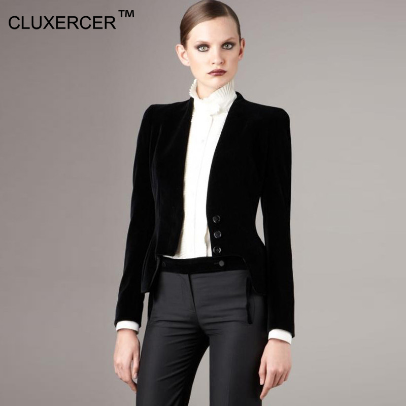 CLUXERCER Brand Blazer Women Slim Black Office Suit Jacket Ladies Single Breasted Formal Business Women Blazers and Jackets