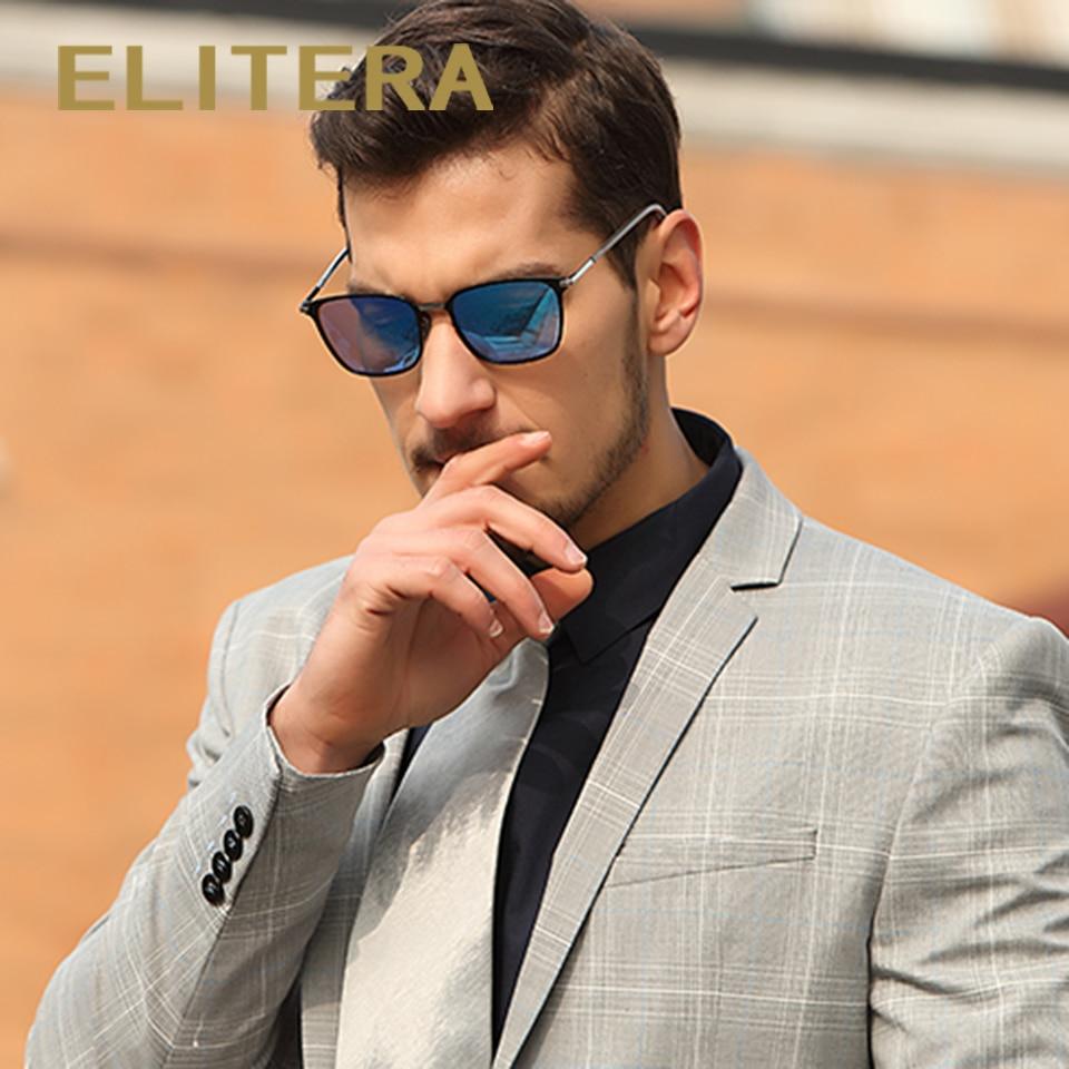 ELITERA Nouvelle Marque De Mode Designer Alliage Lunettes De Soleil Polarisées Miroir lentille Mâle oculos lunettes de Soleil Lunettes Pour Hommes