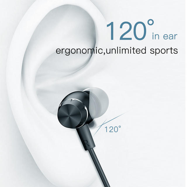 Bluetooth Wireless Neckband Earphones with Built-in Microphone