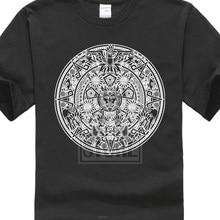 cc3912bcc Aztec Mandala T Shirt Indians American Mayans Maya Sign Calendar  Mexico(China)