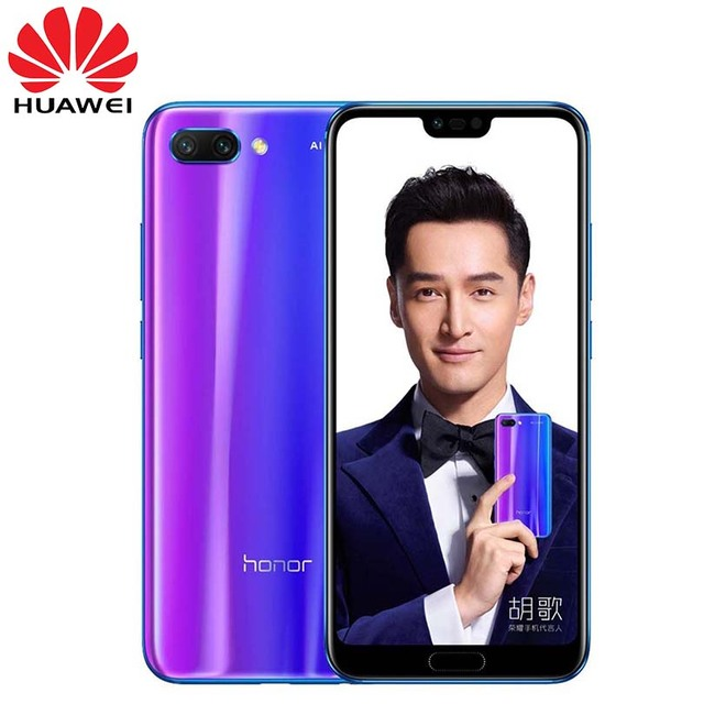 New arrival Honor 10 5.84 inch 2280x1080p Honor10 screen Mobile Phone Octa Core face ID NFC android 8.1 3400mAh battery 2