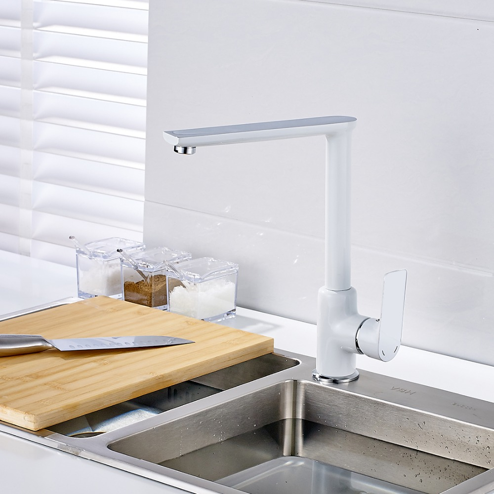 envo libre grifos de latn pintura blanca para fregadero de la cocina cocina mezclador grifo