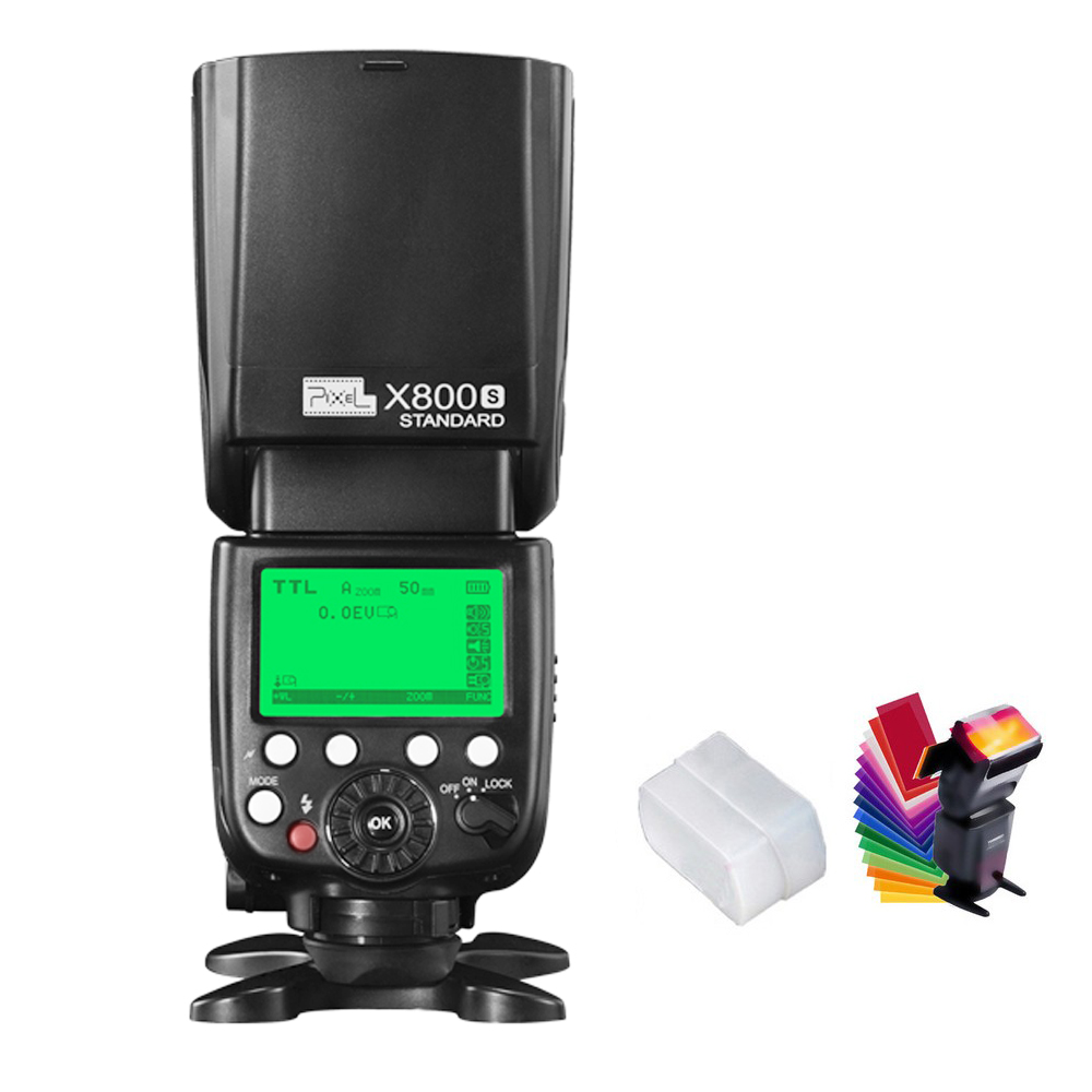 Pixel X800S X800 Standard GN60 2.4G 1/8000S Wireless TTL HSS Flash Speedlite For Sony A6300 A6500 A7m2 A7 A7S A7R A6000 A6300 sony a6500