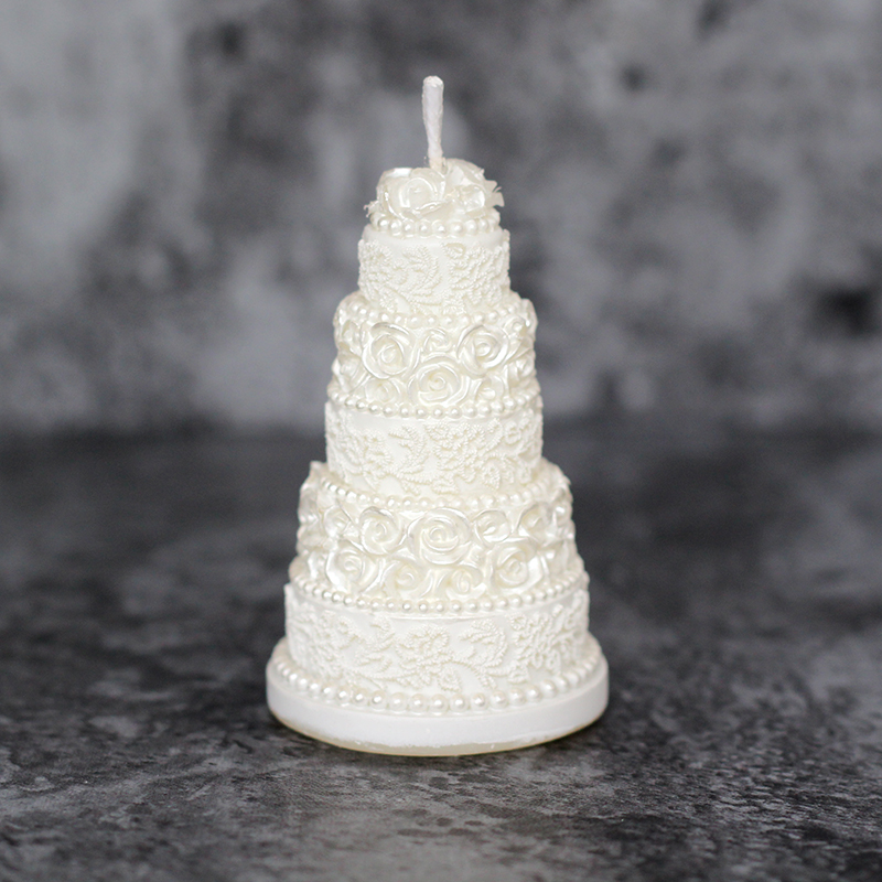 Silicone Candle Mold 3D Wedding Cake Shape Soap Candle Mould Handmade Resin Cake Decorating Tool