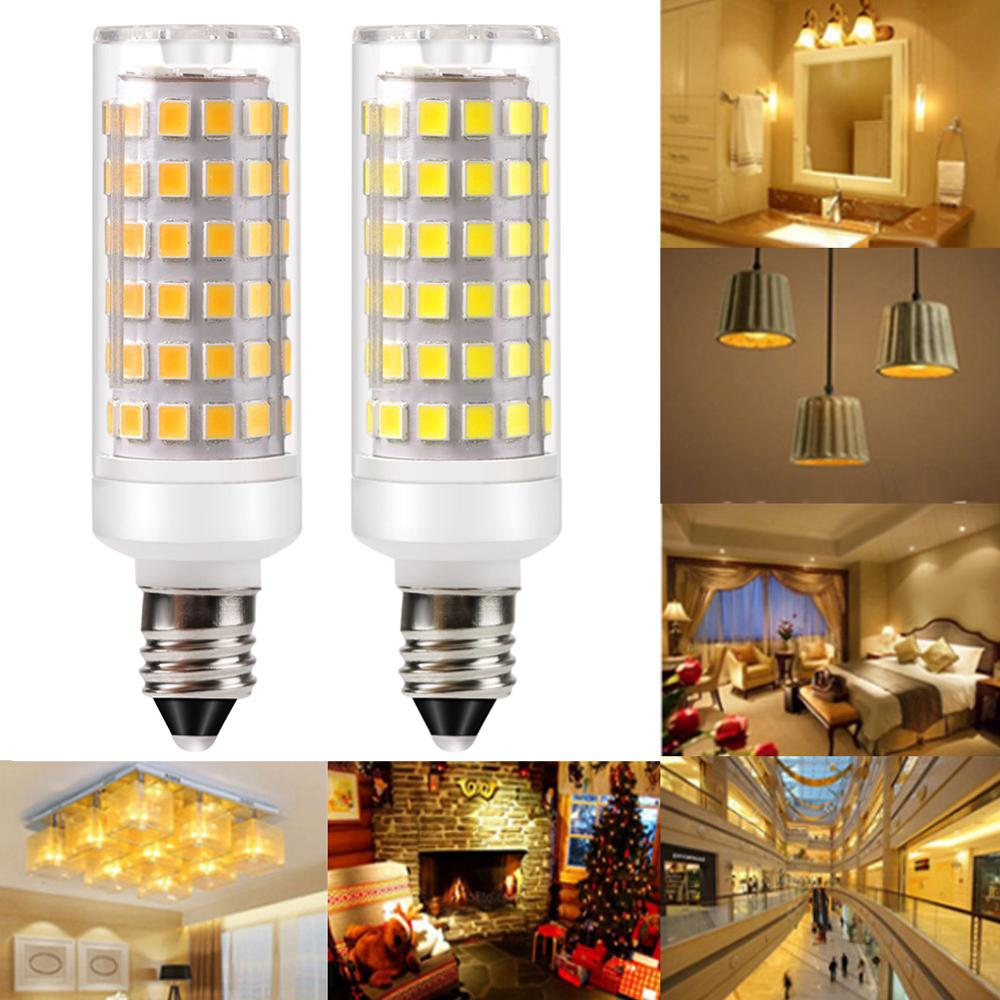 Durable Dimmable Ceramic <font><b>LED</b></font> Light <font><b>Bulb</b></font> G9 E11 E12 E14 <font><b>E17</b></font> BA15D 9W DC 110V 220V 2835 Light <font><b>Bulb</b></font> Replace Halogen For Chandelier image
