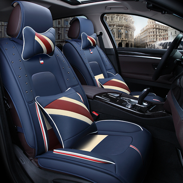 Car Seat Cover High Fiber Leather Car Styling For Ford Edge Escape Kuga Fusion