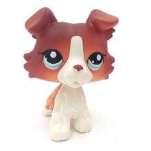 #1542 PS красно-коричневый колли Голубой щенок глаза рисунок LP игрушка