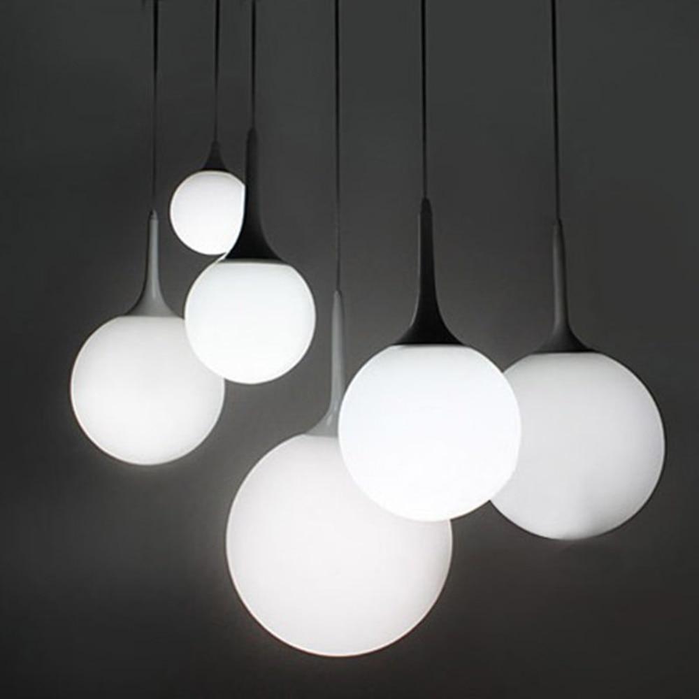 купить Milk Globe Glass Shade Pendant Lights Lampada Led Lamp For Bar Restaurant Dining Room Decorative Hanging Pendant Lamp Fixtures по цене 2036.53 рублей