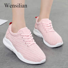 Vulcanize Skor Kvinnor Air Mesh Sneakers Sneakers For Ladies White Basket Femme Pustande Mesh Shoes Zapatillas Mujer Casual
