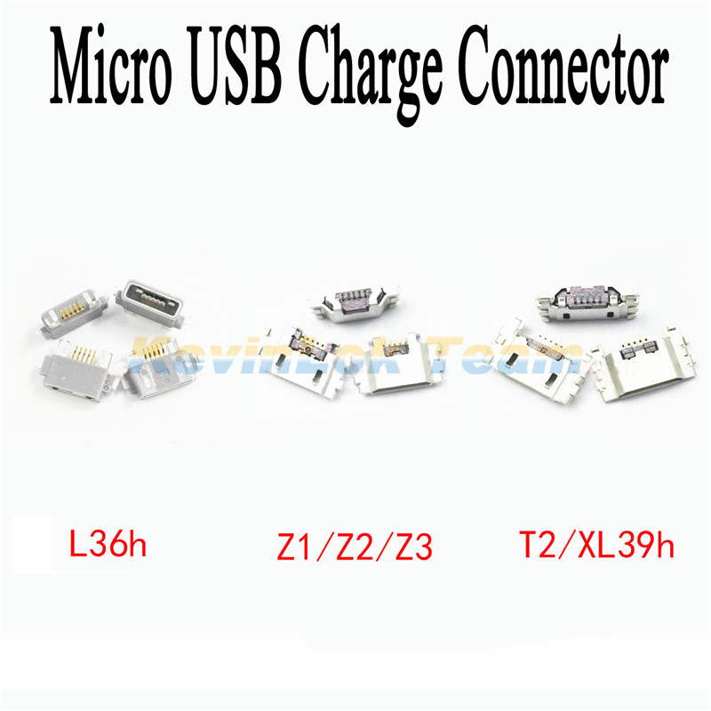 2pcs Micro USB Jack Charging Port For Sony Xperia Z Z2 Z1 Z3 Compact Z Ultra XL39H S Lt26i T2 Power Charger Connector Socket