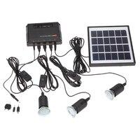 Outdoor Solar Power Led Lighting Bulb Lamp System Solar Panel Home System Kit Garden Waterproof 4400mAh LED Solar panel